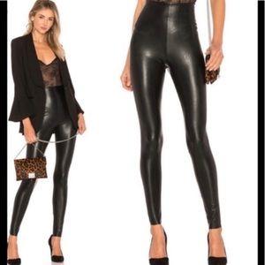 NWT COMMANDO Faux Leather Legging Black Large